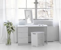 white vanity table with drawers