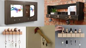diy wooden key holder for wall ideas diy home decor ideas easy