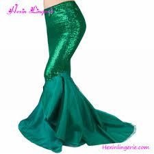 Mermaid Skirt Pattern Delectable Elegant Green Sequins Maxi Women Long Pattern Mermaid Skirt Buy