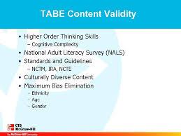 Tests Of Adult Basic Education Workshop Objectives