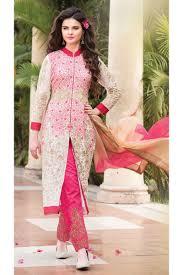 Designer Party Wear Churidar Pink Designer Party Wear Salwar Kameez From