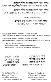 chanukah blessings reprinted from siddur sim shalom for shabbat and festivals 1998 the rabbinical assembly reprinted with kind permission of the ra