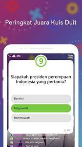 Daftar lengkap aplikasi penghasil uang tambahan menggunakan ponsel pintar (ios dan android) dalam rupiah, dolar atau rewards yang tercepat dan terbanyak. Kuis Duit For Android Apk Download