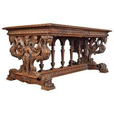 italian wood furniture. Late 19th Century Italian Walnut Center Table Wood Furniture