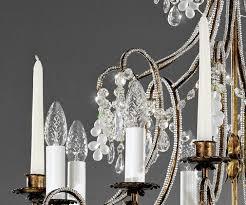 Florentiner Kronleuchter 8 Flg Für Echte Kerzen