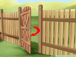 build wood fence gates image titled build a wooden gate step install wood fence gate latch