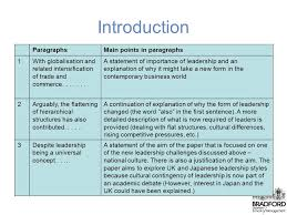 "analysing essay structure ""the cultural anchoring of leadership  3 introduction paragraphsmain"
