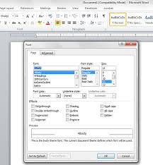 Microsoft Word 2010 Changing Default Font To A More