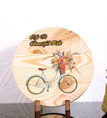bike decorative plate by posh n plush
