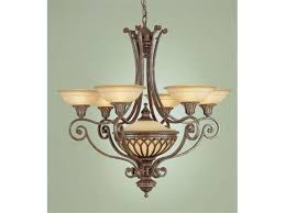 murray feiss f1919 6 1brb stirling castle collection british bronze 7 light chandelier