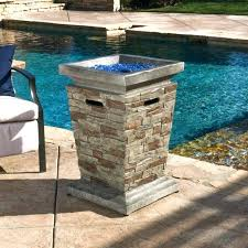 gas fire column outdoor natural stone style propane fueled fire column gas column fire bowl