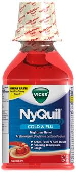 Vicks Nyquil Cold Flu Nighttime Relief Vanilla Cherry