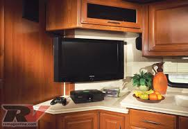 Tv In Kitchen 2009 Fleetwood Discovery Motorhome Road Test Rv Magazine