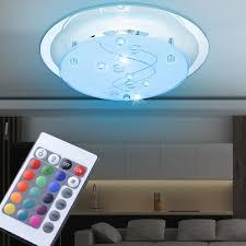 Rgb Led Decken Lampe Glas Beleuchtung Dimmbar Fernbedienung