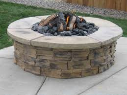 Delightful Exterior 28 Unique Look Of River Rock Fire Bowl For Backyard River  Rock Fire Pit