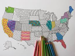 us map coloring poster coloring book page to frame united states