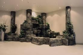 rock spa indoor waterfall