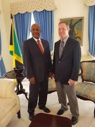 "EGC Jamaica su Twitter: ""Senator Aubyn Hill meeting with Alexander ..."