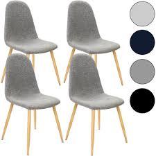 4x Esszimmerstühle Retro Stuhl Stoff Sitzgruppe Designer