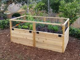 raised garden with hinged fencing