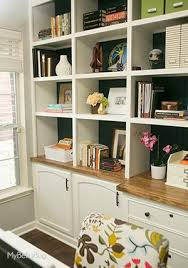 office built in. diy office built ins, diy, home office, how to, shelving ideas, in l