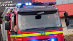 Two rescued from car after A590 crash