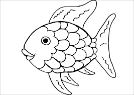rainbow fish cutout fish with scales coloring page