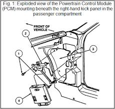 pcm powertrain control module automechanic pcm location diagram