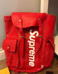 red supreme backpack brand new 30ono