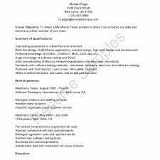 Entry Level Software Engineer Resume Best Of Qa Entry Level Resume