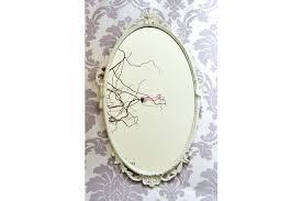 ornate hand mirror. Decorative Hand Mirror Vintage White Classic French Ornate  Circa Handmade