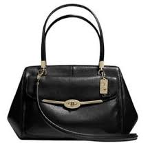 Image is loading Coach-25166-Madison-Madeline-East-West-Satchel-In-