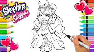 Shopkins Shoppies Wild Style Mystabella Coloring Page Shoppies