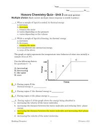 Energy Bar Charts Chemistry Honors Chemistry Quiz Unit 3 2010 Doc U Ment