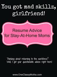Mum Returning To Work Cover Letter Sample Resume Stay At Home Mom