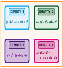 Algebraic Identities Charts Printable Formulas