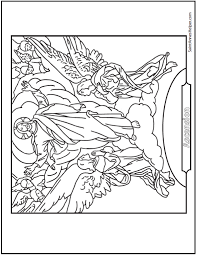 Small Picture Jesus Ascension Coloring Page Ascending With Angels
