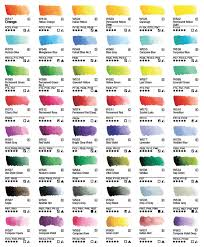 Color Charts Pigment Information On Colors And Paints