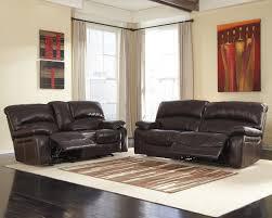 Two Loveseat Living Room Damacio Dark Brown Reclining Sofa Loveseat U98200 81 43