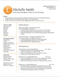Instructional Designer Resume Template Instructional Design Resume