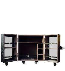 bar trunk furniture. heritage mini trunk bar cabinet in black leather by studio ochre furniture