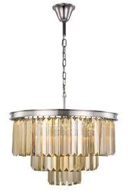 elegant lighting 1231d26pn gt rc sydney 9 light crystal chandelier in polished nickel with royal cut