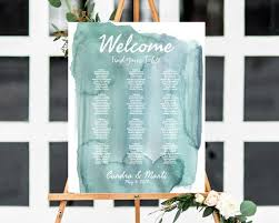 Beach Wedding Seating Chart Watercolor Wedding Theme Seating Chart Template Beach