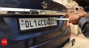 What is HSRP number plate: High Security Registration Plate price, benefits  in Delhi and other cities | - Times of India