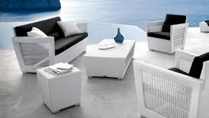 modern white resin wicker patio furniture