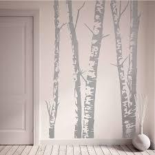 grey birch tree wall art