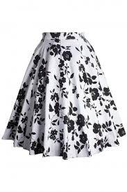 Skirt Patterns Mesmerizing Women's Knee Length Flare Floral A Line Full Circle Skirt Patterns