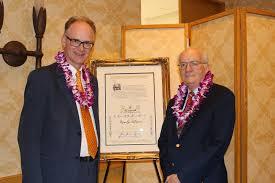 adam smith award apee matt ridley left accepts the adam smith award from 2017 president gerald p