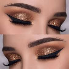 description dark gold eye makeup look