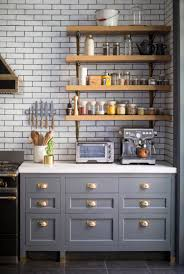 Blue Cabinets Kitchen Kitchen Cabinetry Blue Gray Color Home Ideas Interior Design